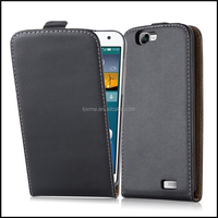 High Quality Magnetic Genuine Real Flip Leather Case Wallet Cover for Huawei Ascend G7