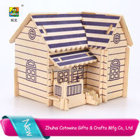 Hot sale promotions gifts sliding puzzle educational purple house