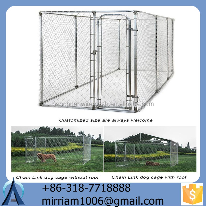 Anping Baochuan Wire Mesh Used Dog Kennels or galvanized pet cage/ dog house