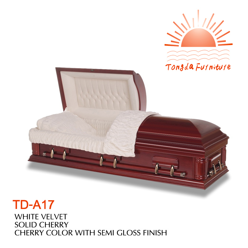 TD-A17 funeral solid wooden casket funeral supplies alibaba web manufacture cheap price