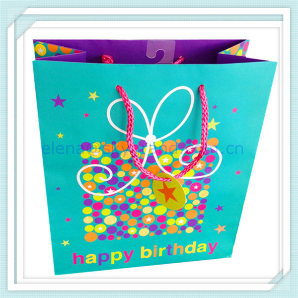 Paper gift bag for baby, paper eco bag, paper bag nylon handles