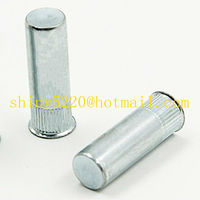 low profile round serrated ROHS plating insert nut M4 closed end