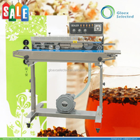 2015 hot sell high quality vertical continuous band sealer with solid-ink coding