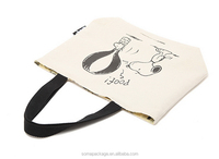 Elegant appearance new style tote blank cotton bag