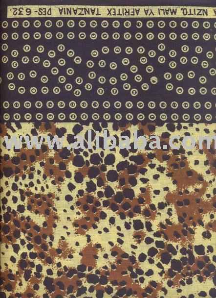 African Fabric 100% Cotton Printed Khanga & Kintege