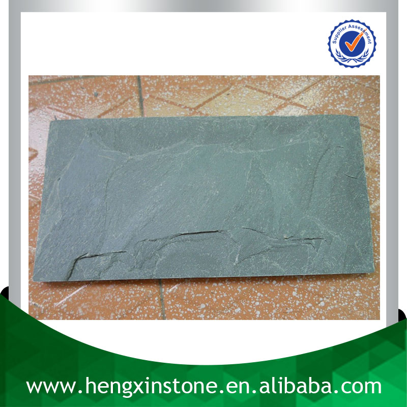 Chinese Factory Direct Sales Cheap Handmade Mushroom Rough Edge 20*10*1cm Green Decorative Slate Tile Price m2 Per Square Meter