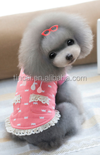 Wholesale dog dress,cute dog vest with lace,Lovable Lace Pet T shirt