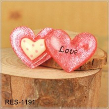 Cute heart - DIY flat back resin cabochon for phone decoration RES-1191cute flat back resins