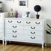 wooden multifuctional storage cabinet with drawers