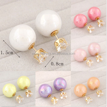 New Fashion Women Gold Plated Rhinestone Crystal Pearl Earrings