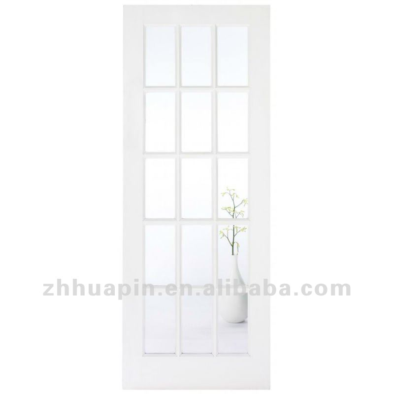 white lacquer glass wooden door