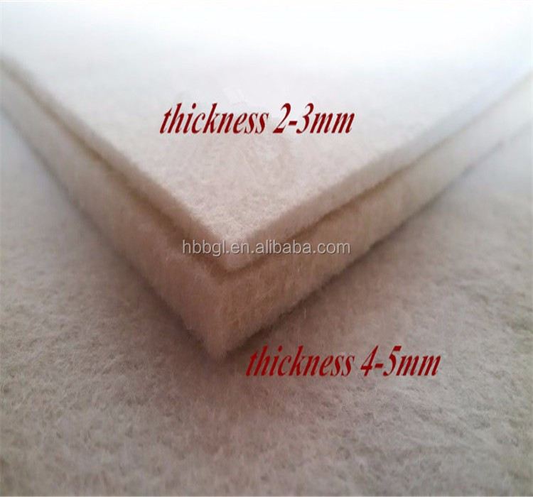 Factory wholesale 2mm 3mm 5mm 8mm 10mm thickness Needle100% Industrial wool felt/ non-woven fabric/felt / Natural Wool Felt