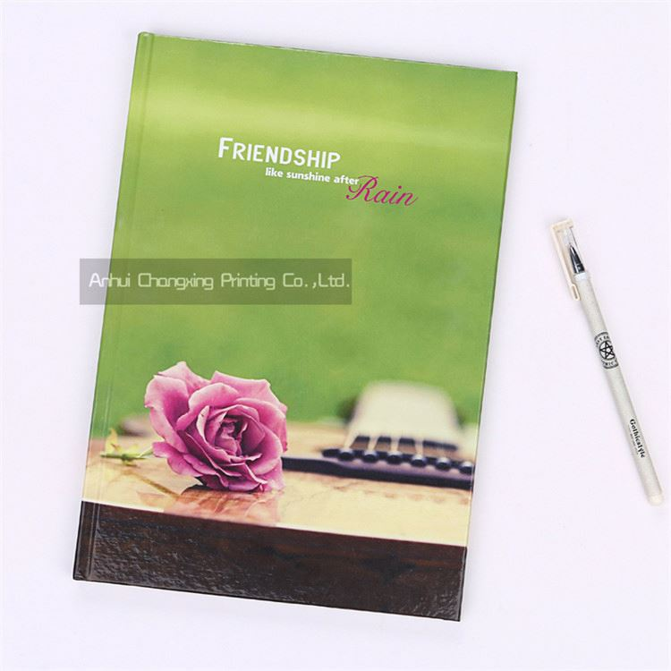 Changxing factory different types friendship flowers hardcover A4 notebooks with different colors