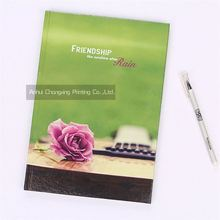 Factory different types friendship flowers hardcover A4 notebooks with different colors