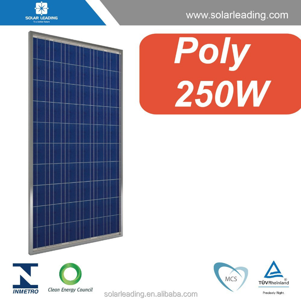Net metering solar system optimized <strong>Poly</strong> crystalline 250W solar pv panels with high quality materials