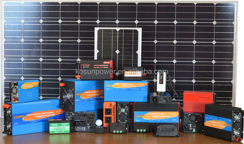 hybrid solar UPS 300w inverter with charger for power supplying to house applications