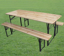 outdoor folding table set,garden beer table set,long bench and legs