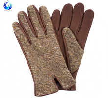 Professional fashion hand fancy leather gloves with low price