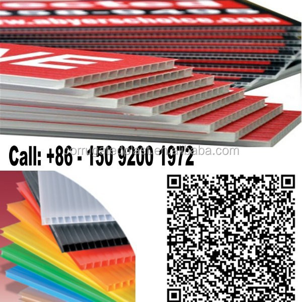 Corflute Polypropylene Corrugated PP Signs Printing