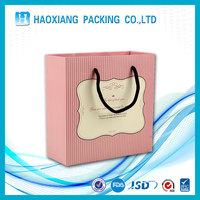 Promotional item luxury paper fancy bag for fashionable lady