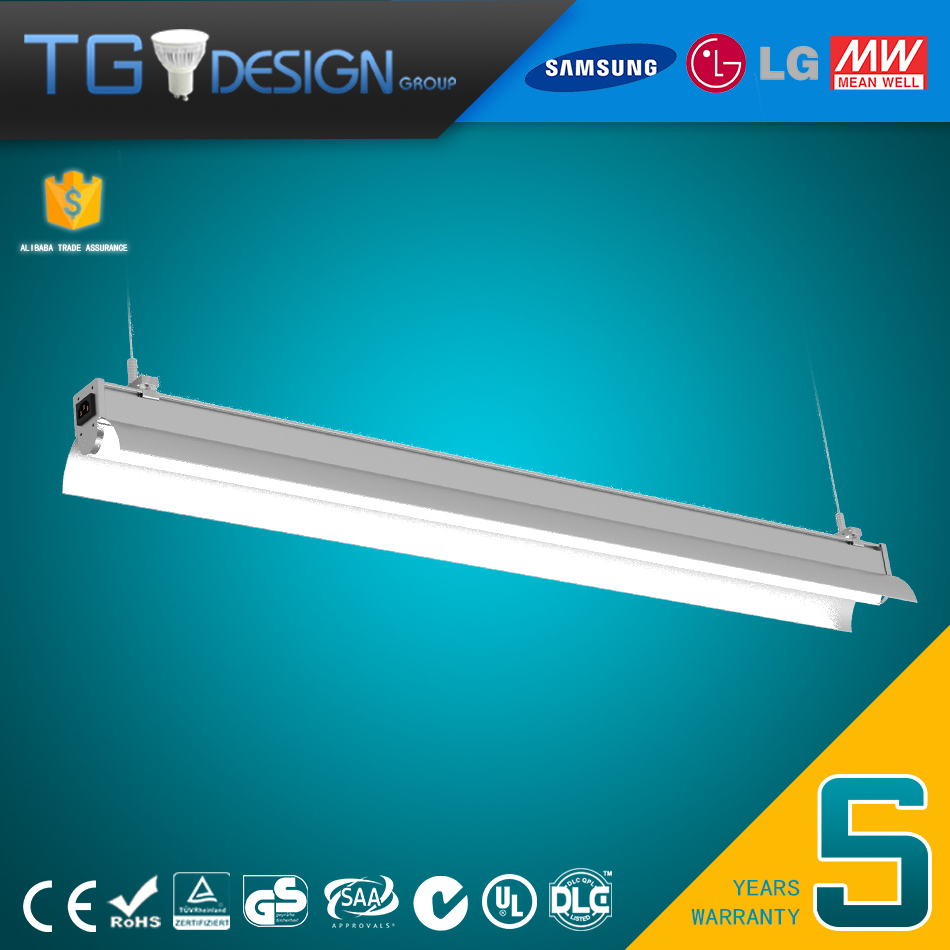 Aluminum Die Casting and Heat Sink 20w 40w 60w 80w 100w Connectable LED Tube Light for Carport Garage Station