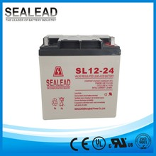 china manufacturer 3 years quality warranty 12v 24ah maintenance free gel battery for ups power back-up
