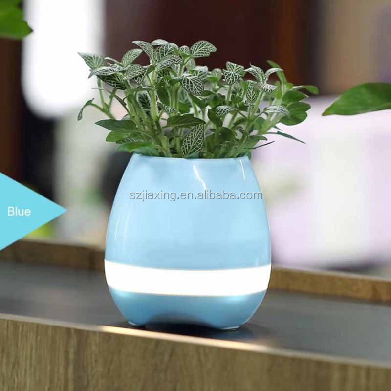 2017 hot Magic Flower Pot Bluetooth Speaker Can Play Many Piano Songs by Finger Touching Real Plant Leaf