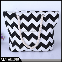 Hot Personalized Chevron Beach Tote Bag
