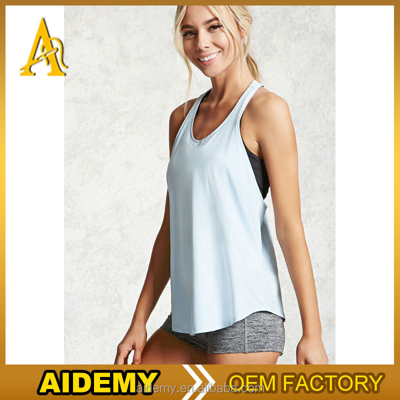 Wholesale Dri Fit Y Back Sports Tops Women Custom Stringer Tank Top