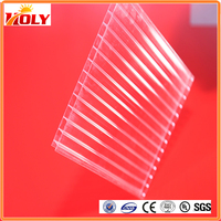 heat insulation double wall polycarbonate transparent roofing sheet
