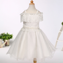 Wholesale online flower girl dress kids wedding dress girls formal prom dresses for kids children clothes LH035