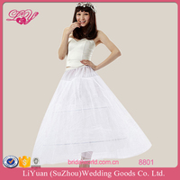 8801 Puffy Two Layers Yarn with 2 Hoops Adjustable Waistband Bridal Crinoline