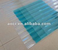 UV-protected corrugated curved polycarbonate sheet