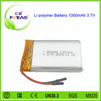 Power tools rechargeable 803048 li-po battery 3.7v 1300mah