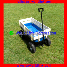 150kgs Big Wheels Strong Wooden Kids Hand Wagon