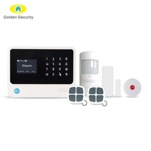 Burglar security 868mhz smart GSM/ WIFI/GPRS home alarm system work with Android + IOS APP