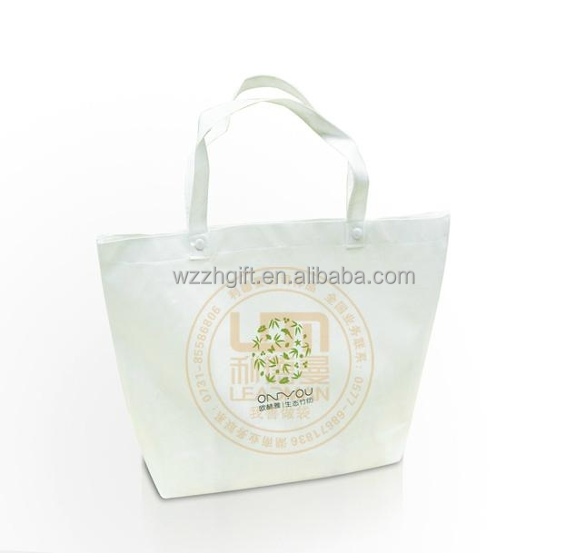 New Design Advertising Disposable Cloth Factory Laminated Fabric Garment PP Promotional Cheap Promotion Shopping Nonwoven Bag