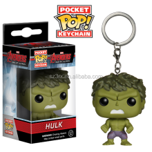 Hot sale animation superhero funko pop 3d plastic keychain/Make design popular funko pop 3d keychain/Customized pvc 3d keychain