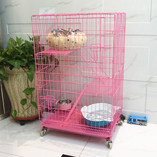 wholesale High quality large 3 tiers wire Breeding cat cage for sale