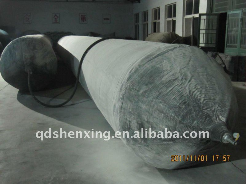 Natural rubber salvage airbag used for wreck ship