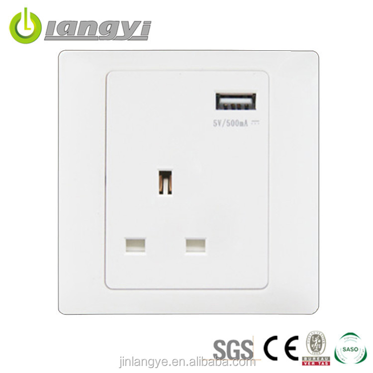 2016 New Product Eco-Friendly Save Power Usb Wall Socket Europe