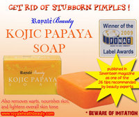 Royale Kojic Papaya Whitening Soap - Removes Pimples, Warts and Blemishes