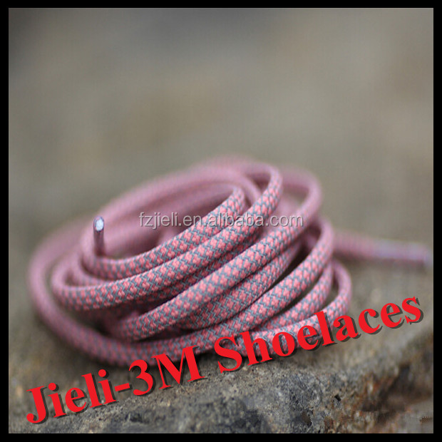 Jieli round 3m shoe lace reflective elastic shoelaces for fashionable safety shoes
