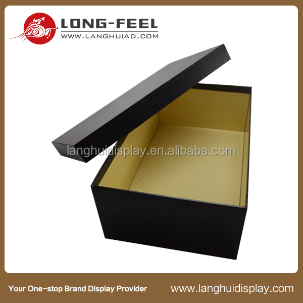 China supplier new product base and lid corrugated display drawer flip top folding paper box plastic packaging box for cake and