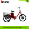 CE hot sell three wheel electric tricycle steel F/22 R/20 Aluminum 36V 350W brushless hub Lead Acide battery 12Ah single speed