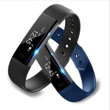 2018 hot OEM bluetooth fitness heart rate monitor smart watch wristband bracelet ID115