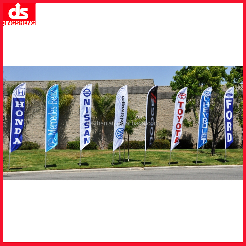 Custom Different Kinds Of Feather Flag For Advertising