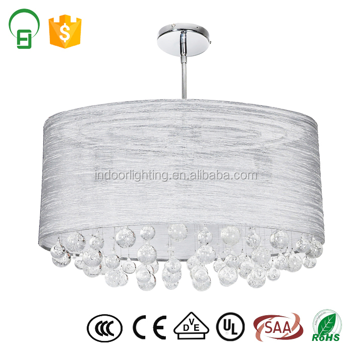 2017 Hot Sale Crystal Beads White Crystal Deluxe Large Light For Hotel