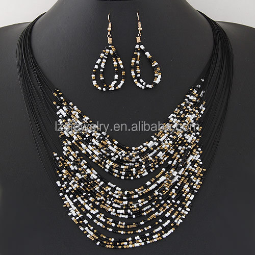 Necklace and Earring Sets Modern Tribal Beaded Necklace Jewelry