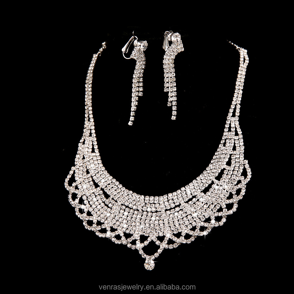 Indian Crystal Bridal Jewelry Sets Suppliers And Manufacturers At Alibaba
